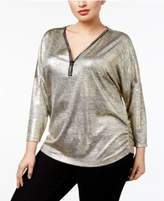 JM Collection Plus Size Metallic Top, Created For Macy's