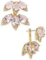 Kate Spade 14k Gold-Plated Pink Stone and Crystal Earring Jackets