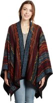 Invisible World Women's 100% Alpaca Hand Made Poncho Ruana Shawl """"