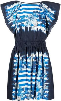 Alberta Ferretti Floral-Print Mini Dress