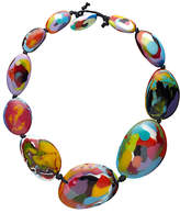 Jackie Brazil Kandinsky Short Flat Riverstone Necklace, Multi