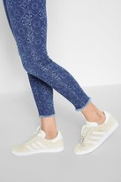 7 For All Mankind Ankle Skinny With Raw Hem In Mirage Mosaic Tile