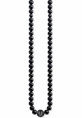 Thomas Sabo Women-Necklace Power Necklace black Glam & Soul 925 Sterling silver KE1674-704-11-L101