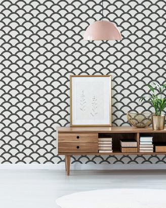 Tempaper Mosaic Scallop Removable Wallpaper