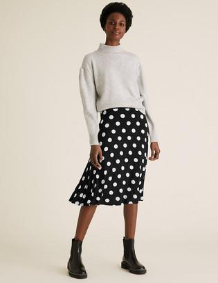Marks and Spencer Jersey Polka Dot Skater Skirt