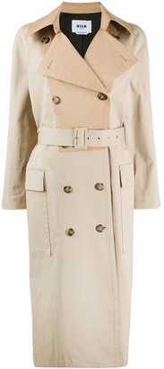 MSGM two-tone trench coat