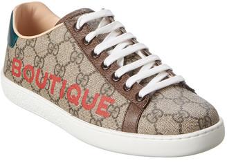 Gucci Boutique Gg Supreme Canvas & Leather Sneaker