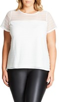 City Chic Plus Size Women's Shadow Heart Top