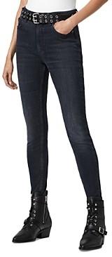 AllSaints Dax Skinny Jeans in Blue/Gray