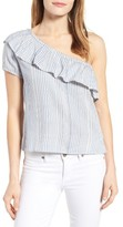 RD Style Women's One-Shoulder Ruffle Blouse