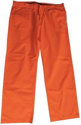 Versace Orange Cotton Jeans