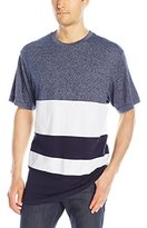 Southpole Men's Short Sleeve Marled Cut and Sewn T-Shirt with Color Blocks