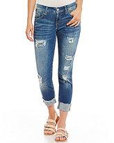 Silver Jeans Co. Destructed Stretch Denim Sam Boyfriend Jeans