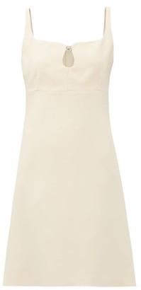 Gucci GG-embellished Keyhole Silk-blend Crepe Mini Dress - Ivory