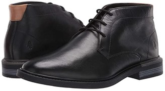 Hush Puppies Davis Chukka Boot (Black Leather) Men's Boots