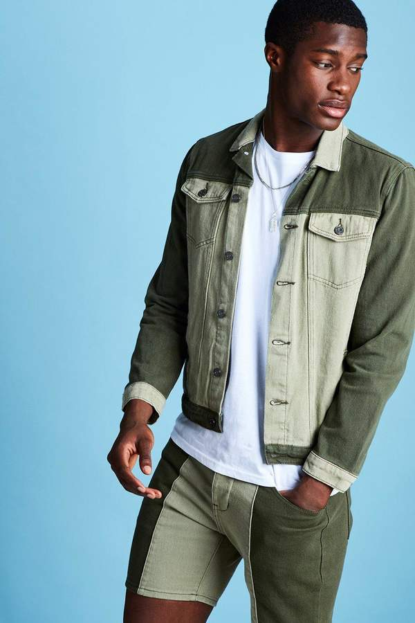 boohoo Colour Block Denim Jacket