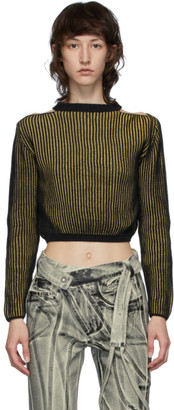 Eckhaus Latta Yellow and Black Clavicle Sweater