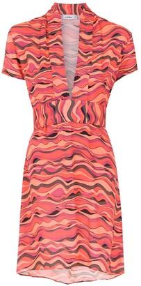 AMIR SLAMA Printed Short Dress