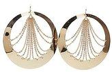 Charlotte Russe Draped Chainlink Hoop Earrings