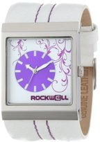 Rockwell Time Unisex MC120 Mercedes White Leather and Purple Watch