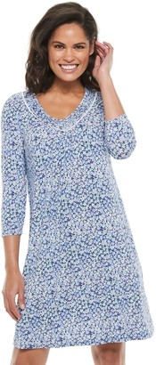Croft & Barrow Women's 3/4 Sleeve Short Nightgown