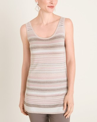 Travelers Collection Lurex Striped Tank