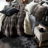 UGG Polar Faux Fur Twin Comforter Set in Sable