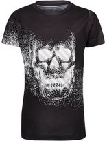 River Island Boys black skull print t-shirt