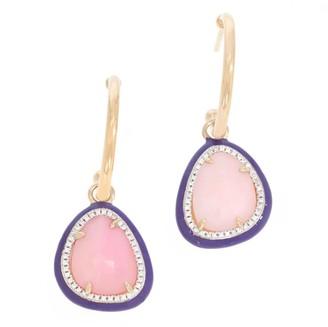 Ella Stein Pink Opal Earrings- 14Kt Gold Plated