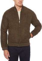 Perry Ellis Faux Suede Bomber Jacket