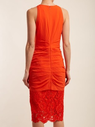 Proenza Schouler Ruffle Lace Cotton-blend Midi-dress - Coral