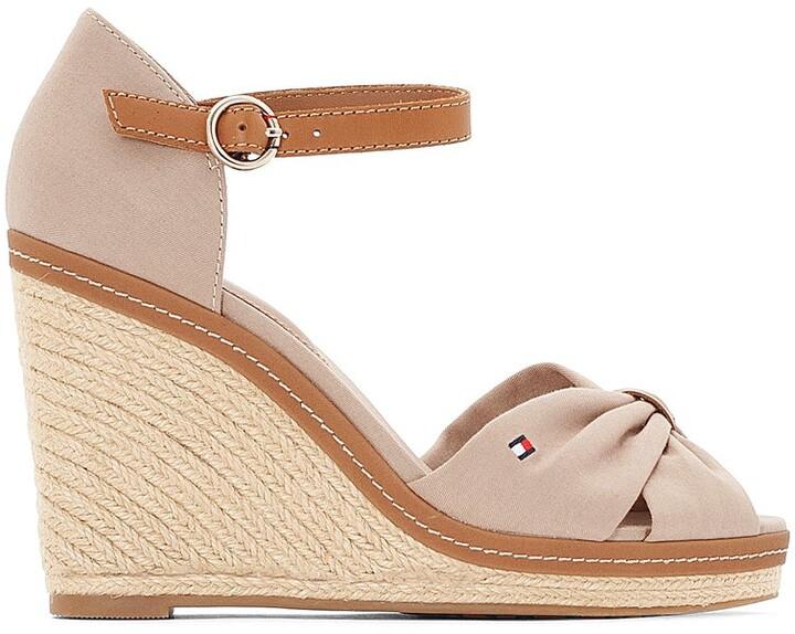 8cb41127c43 Elena Espadrille Wedge Heel Sandals with Ankle Cuff