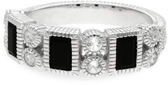 Judith Ripka Sterling Silver Estate Ring with 3 Vertical Bars