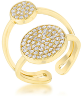 Kate Bissett Cubic Zirconia & Gold Wanda Double Circle Ring