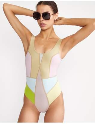 Cynthia Rowley Kalleigh Colorblock Swimsuit