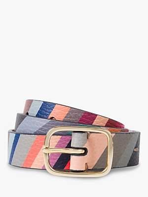 Paul Smith Swirl Leather Belt, Multi