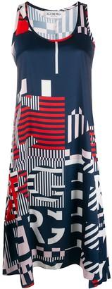 Iceberg Geometric Print Dress