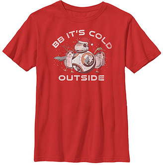 Fifth Sun Boys' Tee Shirts RED - Star Wars Red BB-8 'It's Cold Outside' Tee - Boys