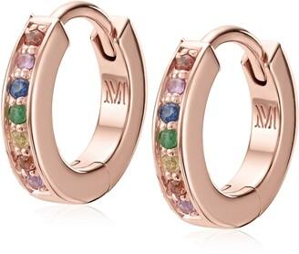 Monica Vinader Skinny Gemstone Huggie Hoop Earrings