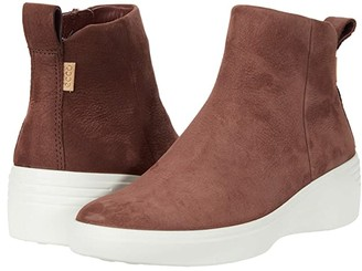 Ecco Soft 7 Wedge City Boot (Chocolat Cow Nubuck) Women's Shoes