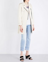 Sandro Longline cotton-blend coat