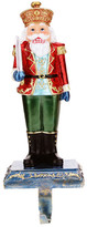 "Mark Roberts Green 11"" Nutcracker Stocking Holder"