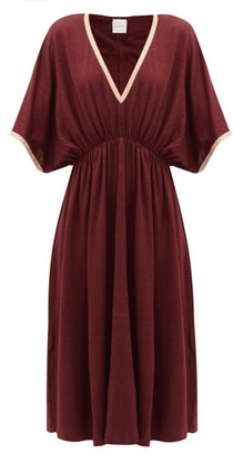 Max Mara Beachwear - Vetro Midi Dress - Womens - Burgundy
