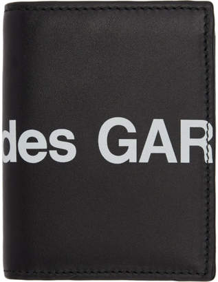 Comme des Garcons Wallets Wallets Black Huge Logo Card Holder