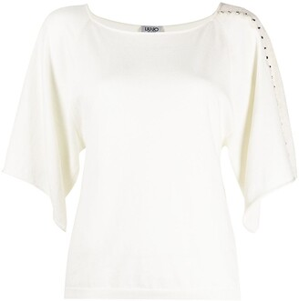 Liu Jo Lace Embroidered Sleeve Blouse