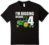 Kids 4 Year Old Tractor Birthday Shirt 4th Birthday Shirt Boy
