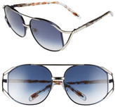 Wildfox Couture Women's Dynasty Oversized Metal Frame Sunglasses