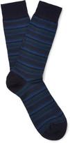 Pantherella - Stannard Striped Wool-blend Socks