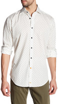Thomas Dean Printed Long Sleeve Shirt