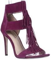 Via Spiga Eilish Fringe Dress Heel Sandals, Bright Plum.